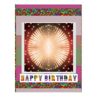 HAPPY BIRTHDAY - Sparkling MOON Postcard