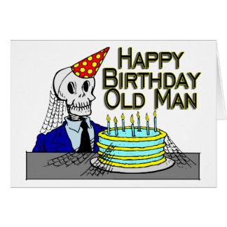 Happy Birthday Spider Web Old Man Card