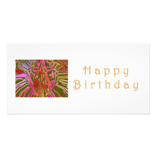 Happy Birthday Spider Web Personalised Photo Card