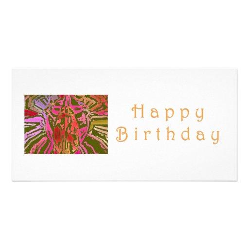 Happy Birthday Spider Web Photo Cards