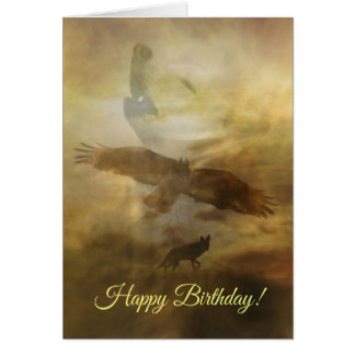 Happy Birthday Spiritual Native American Card