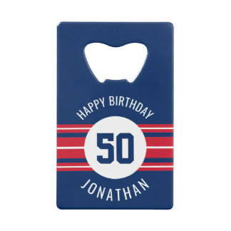 Happy Birthday Sports Jersey Stripes Name and Age