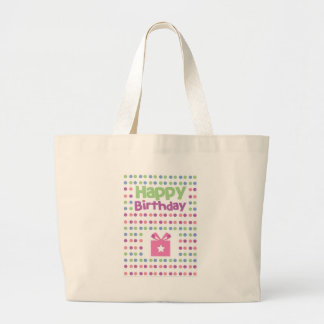 Happy Birthday spotty card Jumbo Tote Bag