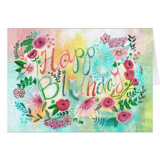 Happy Birthday Spring Flowers | Greeting Card