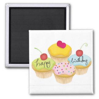 Happy Birthday Square Magnet