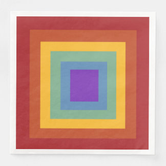 Happy Birthday Square Rainbow Napkins Disposable Serviettes