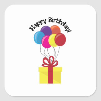 Happy Birthday! Square Sticker