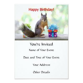 Happy Birthday Squirrel Card