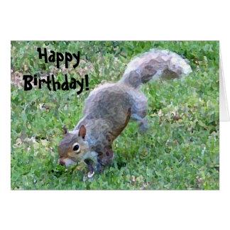Happy, Birthday! Squirrelly Card