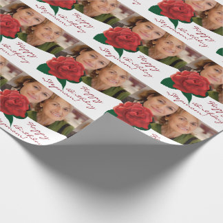 Happy Birthday stepmom photo Wrapping Paper