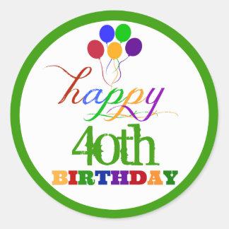Happy Birthday Stickers with Custom Age