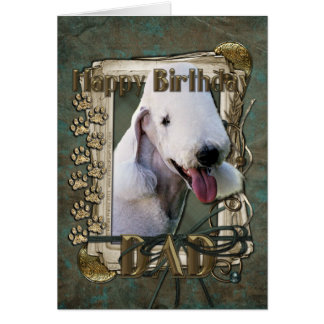 Happy Birthday - Stone Paws Bedlington Terrier Dad Cards