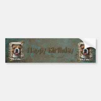 Happy Birthday - Stone Paws - Bulldog Bumper Sticker