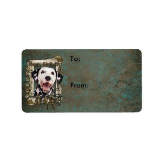 Happy Birthday - Stone Paws - Dalmatian - Dad Address Label