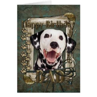 Happy Birthday - Stone Paws - Dalmatian - Dad Greeting Card