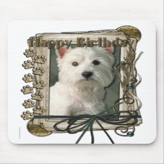 Happy Birthday - Stone Paws -West Highland Terrier Mouse Pads