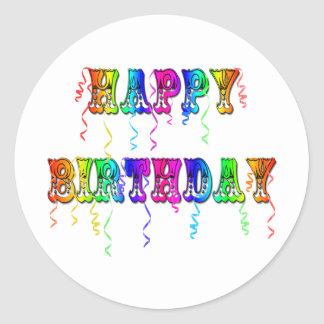 Happy Birthday Streamers Stickers
