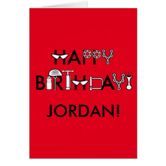 Happy Birthday Stylized and Personalized Card
