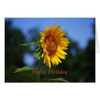 Happy Birthday Sunflower Card