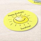Happy Birthday, Sunshine! Round Paper Coaster