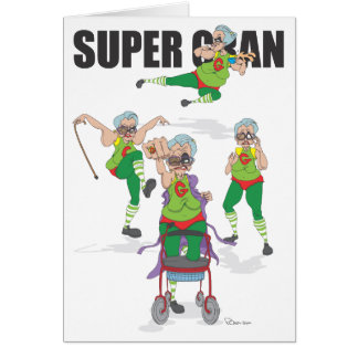 Happy Birthday Super Gran Card