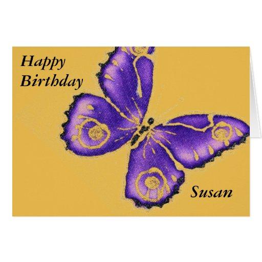 Happy Birthday Susan Greeting Card Zazzle