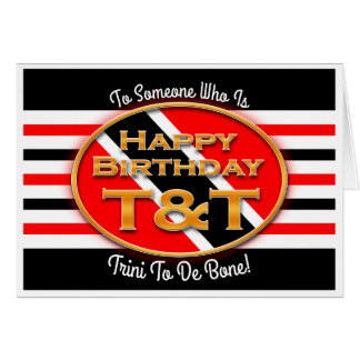Happy Birthday T&T Card