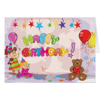 Happy Birthday Teddy Card