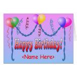 Happy Birthday Template Card