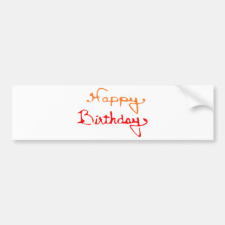 Happy Birthday Text Bumper Stickers