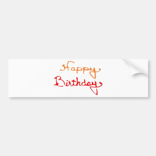 Happy Birthday Text Bumper Stickers