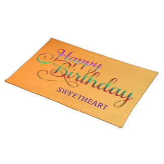 HAPPY BIRTHDAY - text design + your own ideas Placemats