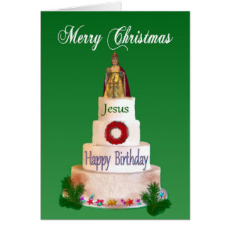 Happy Birthday to Jesus Christmas Card
