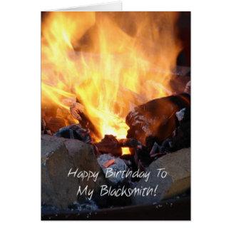 Happy Birthday to my Blacksmith Card