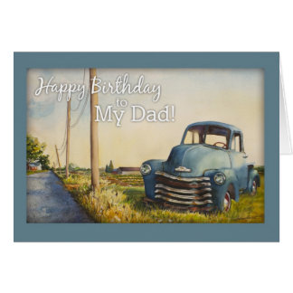 Happy Birthday to My Dad, Blue Truck Card