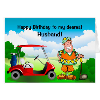 Happy Birthday to my dearest Husband-Golfer Card