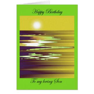 happy birthday to my loving Son brenda cheason Card