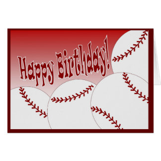 Happy Birthday to Softball Player From Biggest Fan Greeting Card