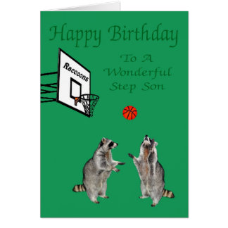 Happy Birthday To Step Son Greeting Card