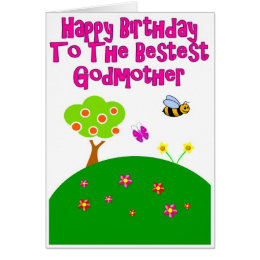 Happy birthday godmother cards invitations zazzle happy birthday to the bestest godmother card bookmarktalkfo Gallery