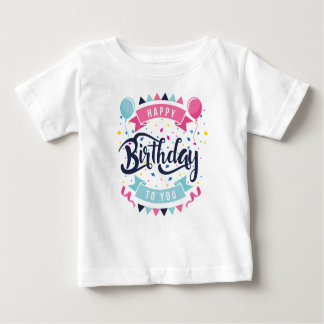 Happy birthday to you confetti and bunting baby T-Shirt