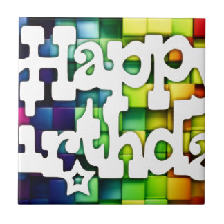 Happy birthday to you - Happy Birthday Small Square Tile