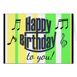 Happy Birthday to You Lime Green, yellow Birthday Card