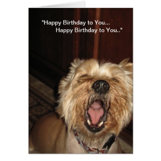 """Happy Birthday to You"" - Singing Dog Card"