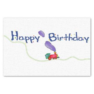 Happy Birthday Train Tissue Paper