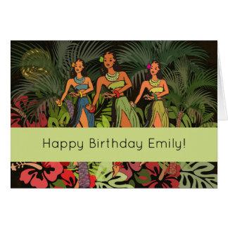 Happy Birthday Tropical Hawaii Custom Template