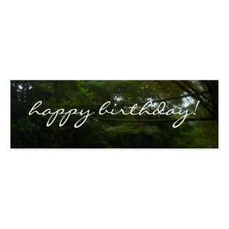 Happy Birthday Tropical Rainforest Bamboo Pack Of Skinny Business Cards
