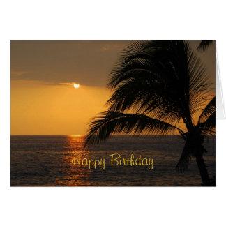Happy Birthday Tropical Sunset Card
