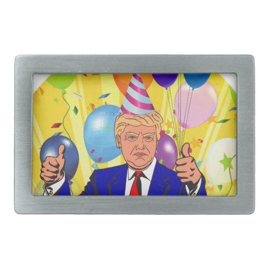 happy birthday trump belt buckles