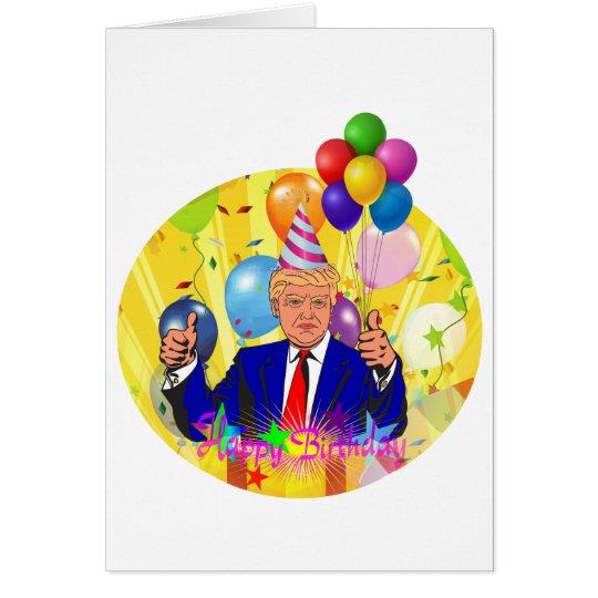 happy birthday trump card
